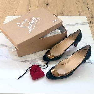 Authentic Christian Louboutin Black/Bronze Heels